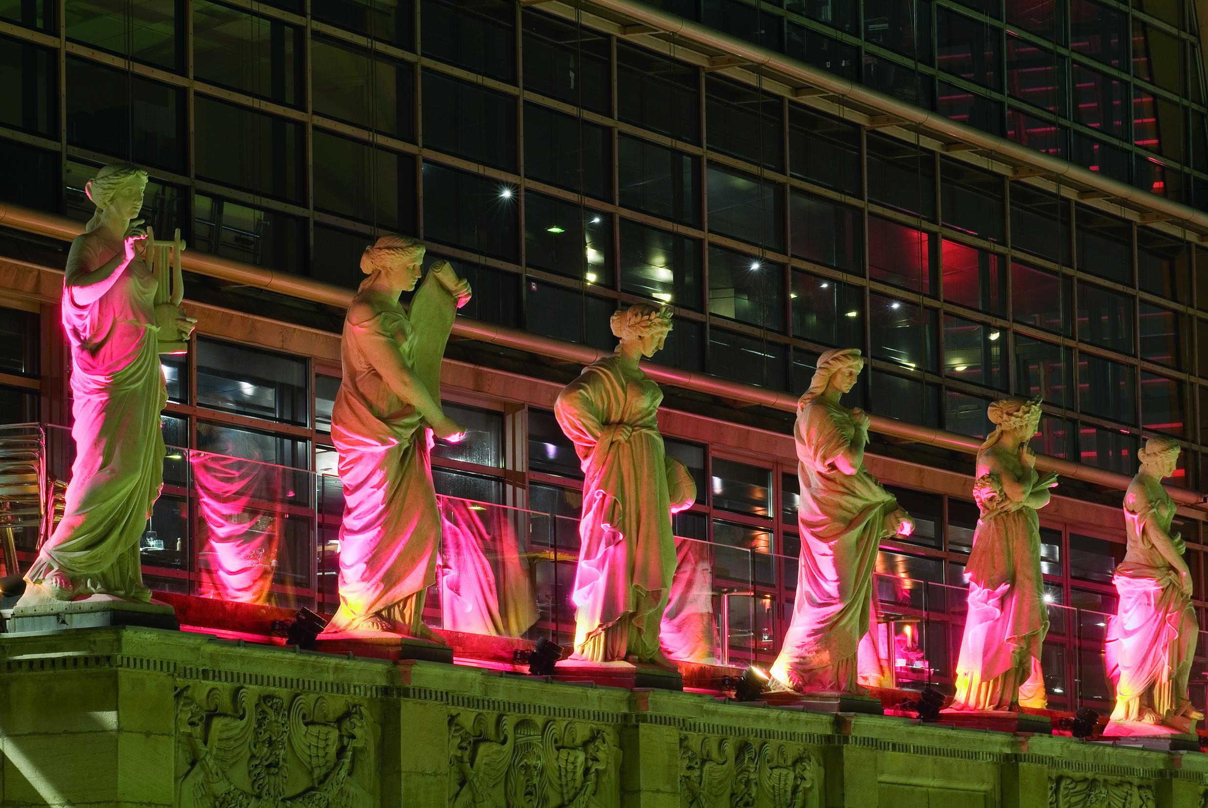 Statuts muses de l'opéra de Lyon