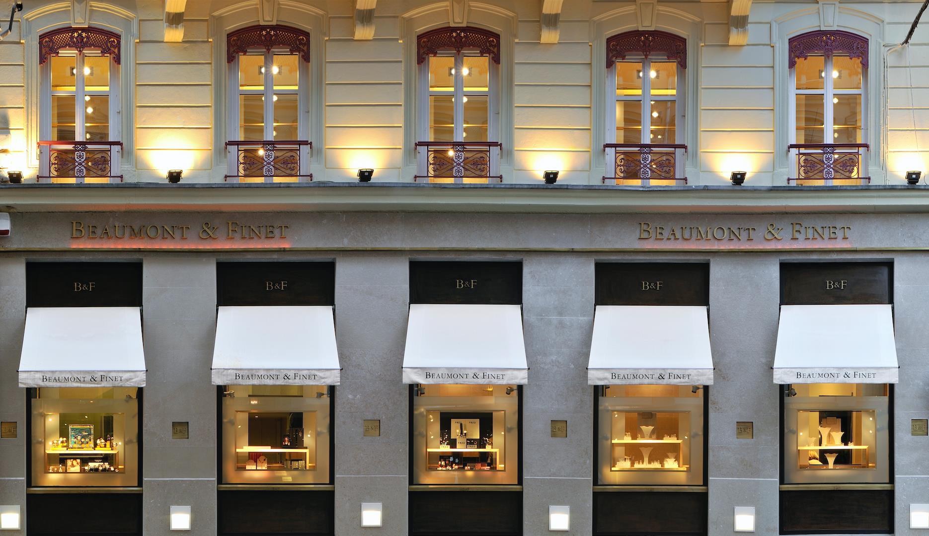 vitrine boutique Beaumont et FInet Lyon joaillier