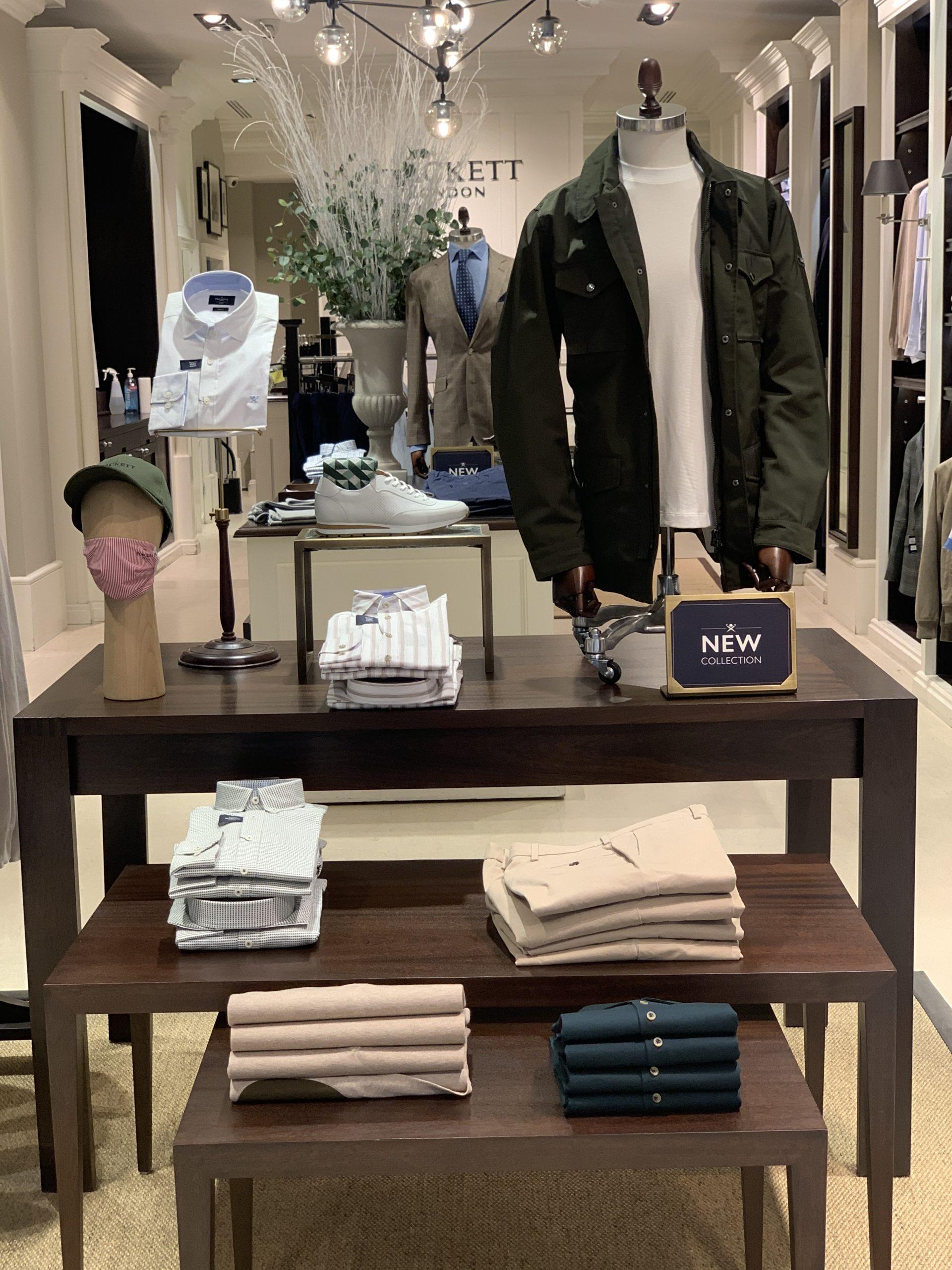 étagères boutique mode homme Hackett Lyon 2