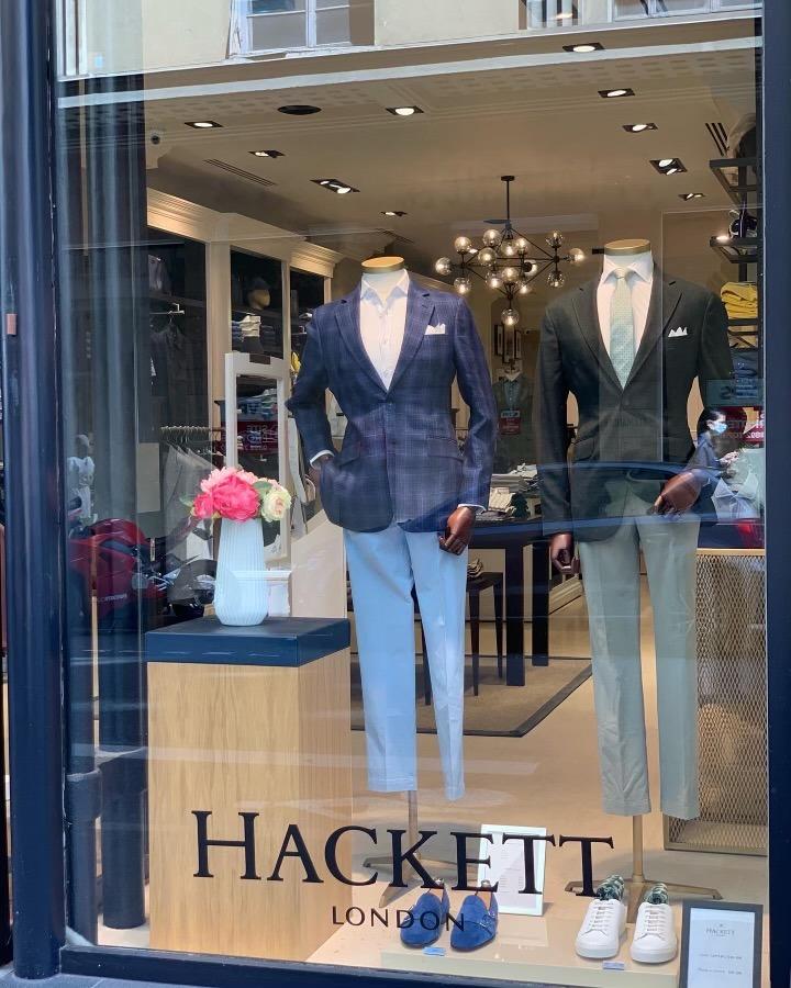 vitrine boutique Hackett hommes Lyon