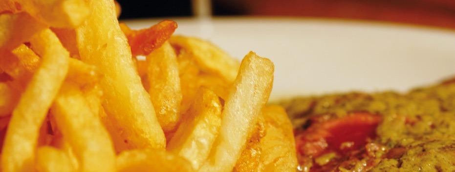 assiette de frites l'entrecôte Lyon centre ville