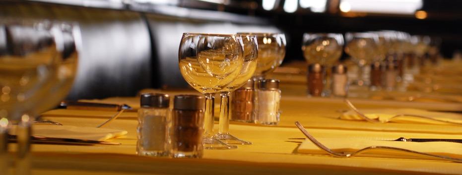 table dressée l'entrecôte Lyon centre ville