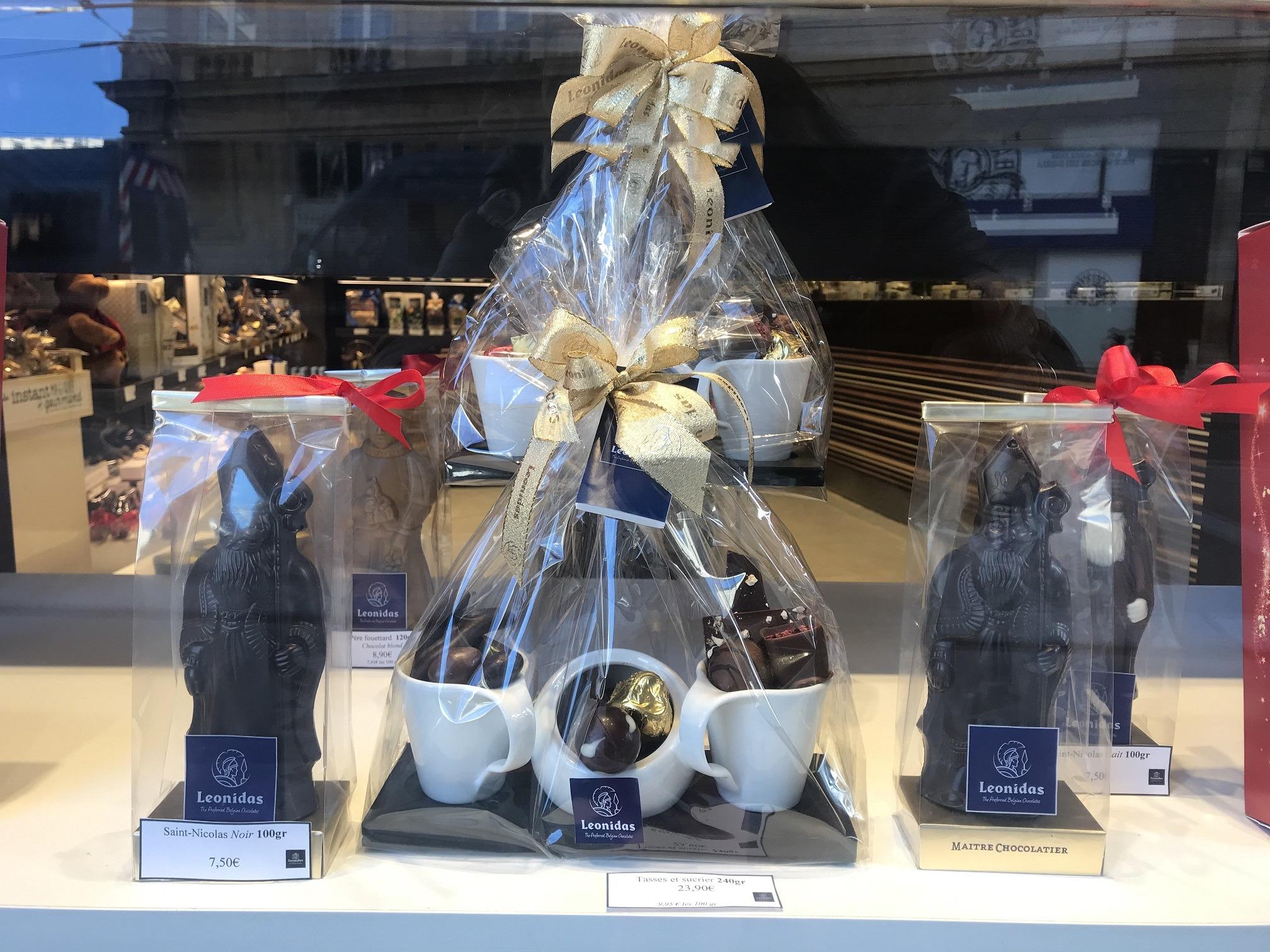 pere noel chocolat leonidas lyon 1er