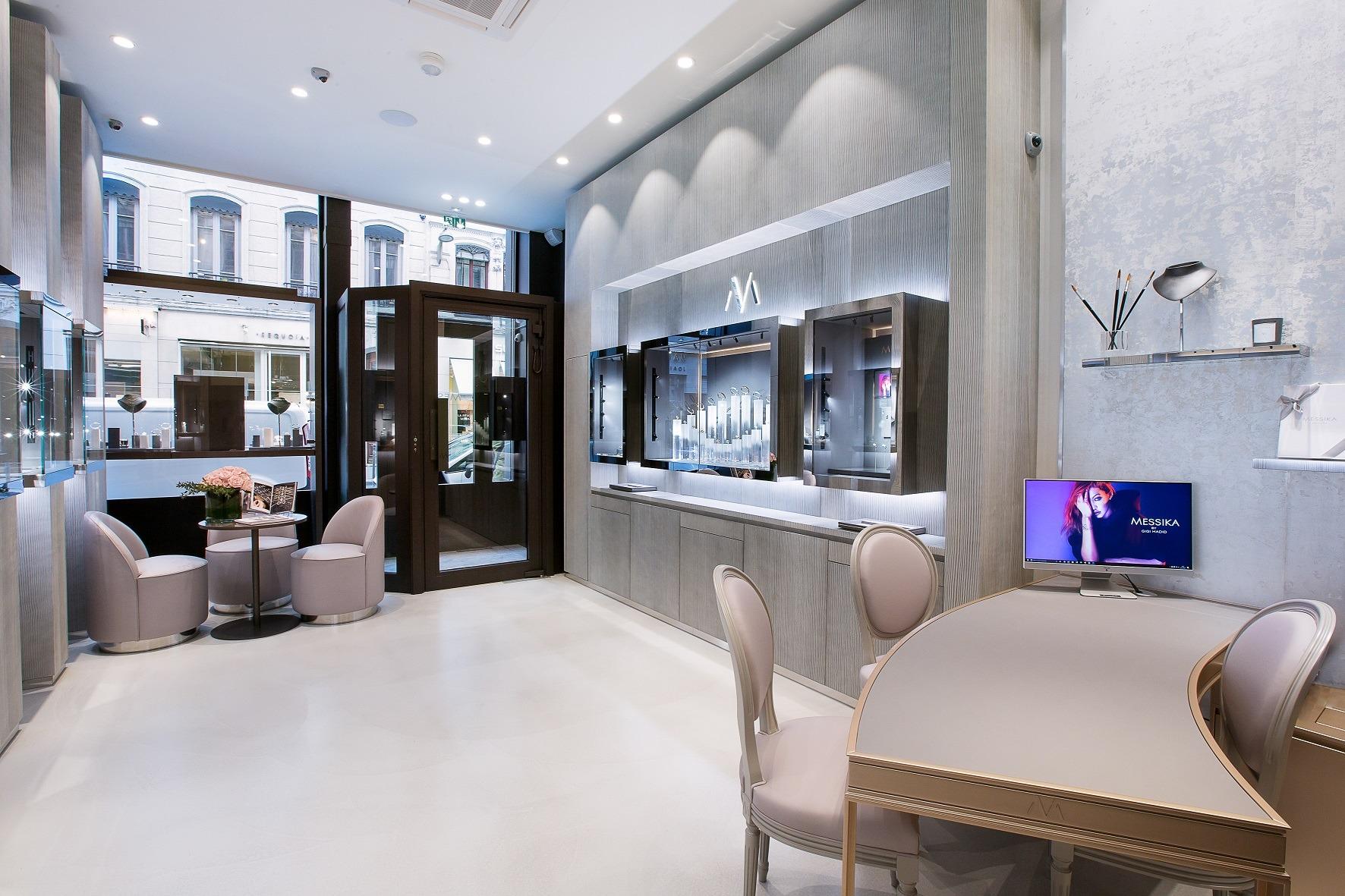 intérieur boutique Messika Lyon