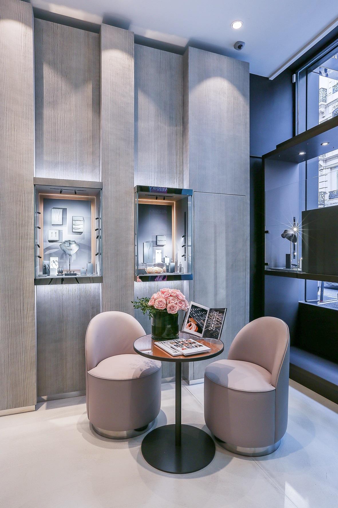 salon clients boutique Messika Lyon