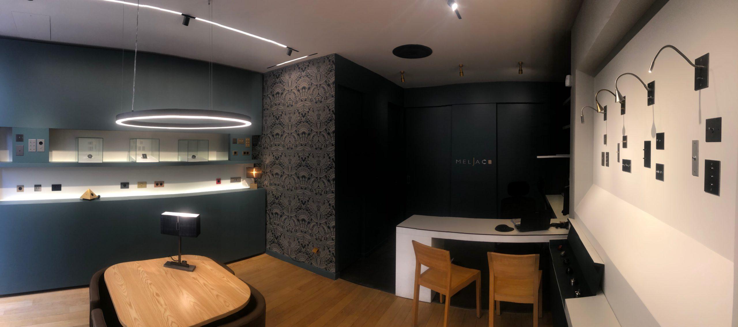 intérieur boutique Meljac Lyon interrupteurs