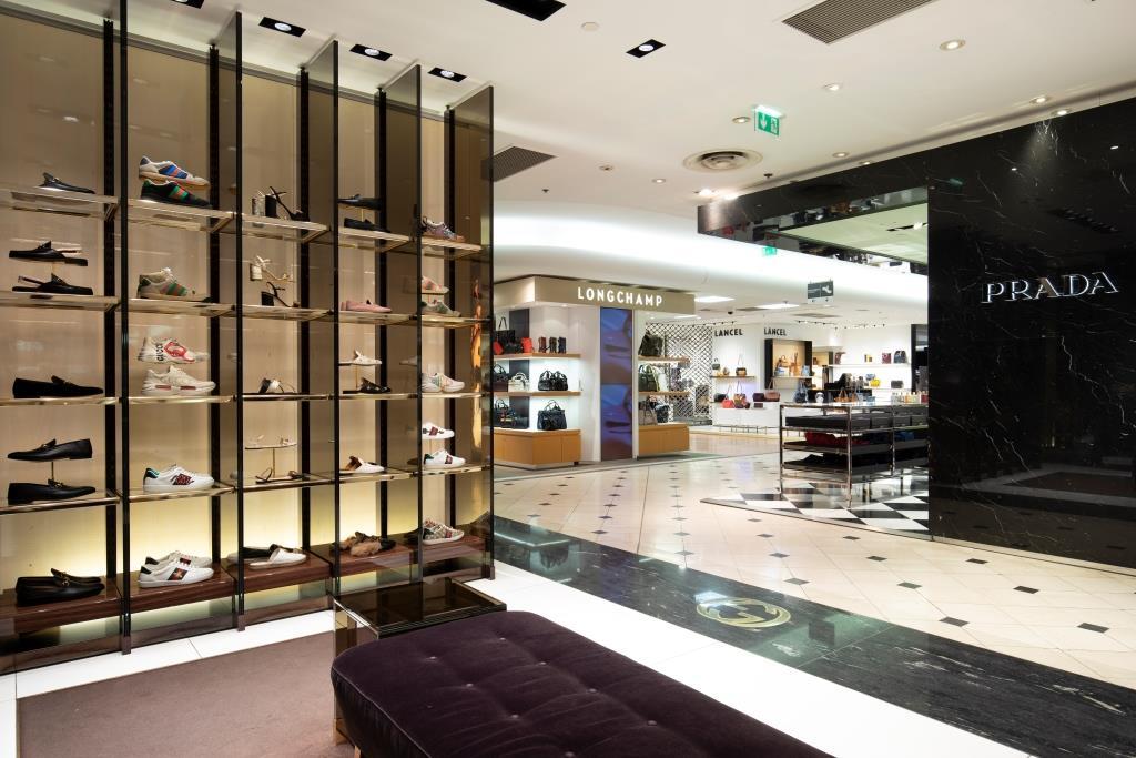 Printemps Lyon chaussures maroquinerie Gucci Prada Longchamp