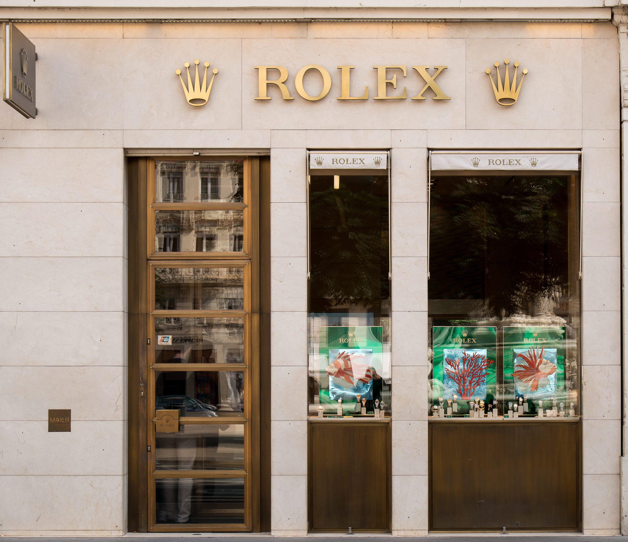 boutique Rolex Lyon Maier vitrine