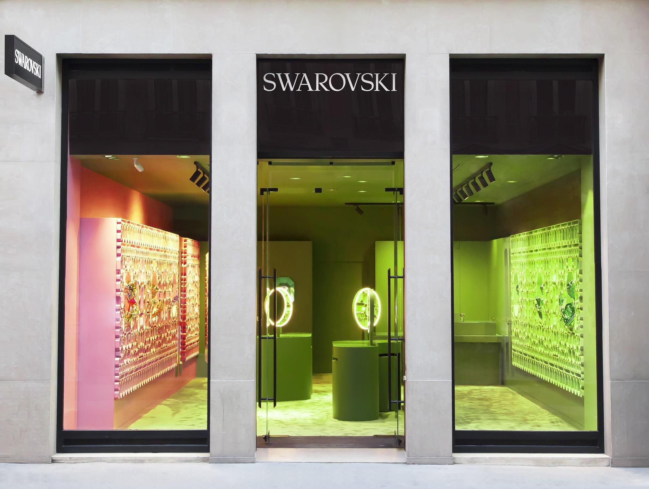 façade boutique Swarovski Lyon 2