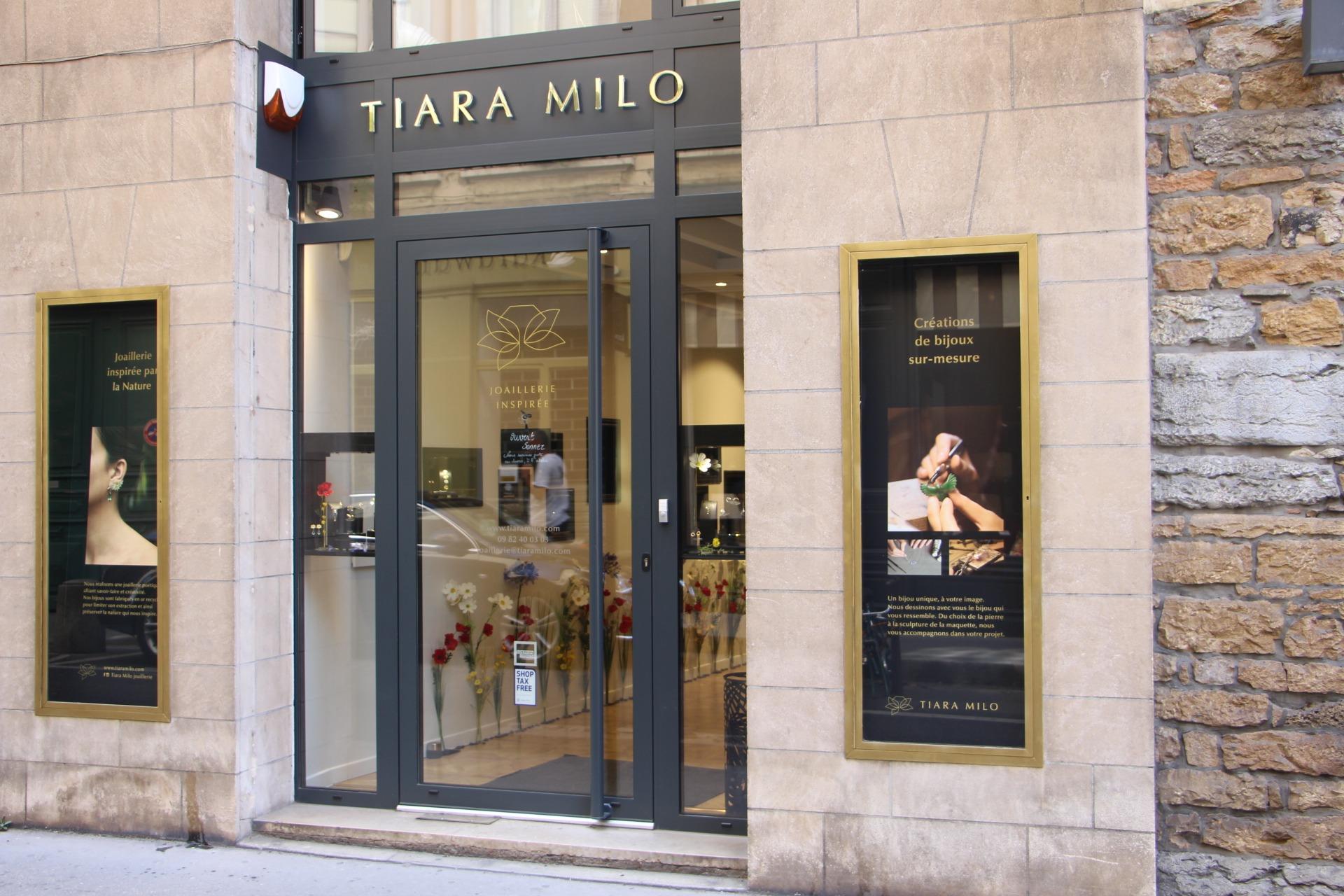 vitrine atelier création Tiara Milo Lyon 2