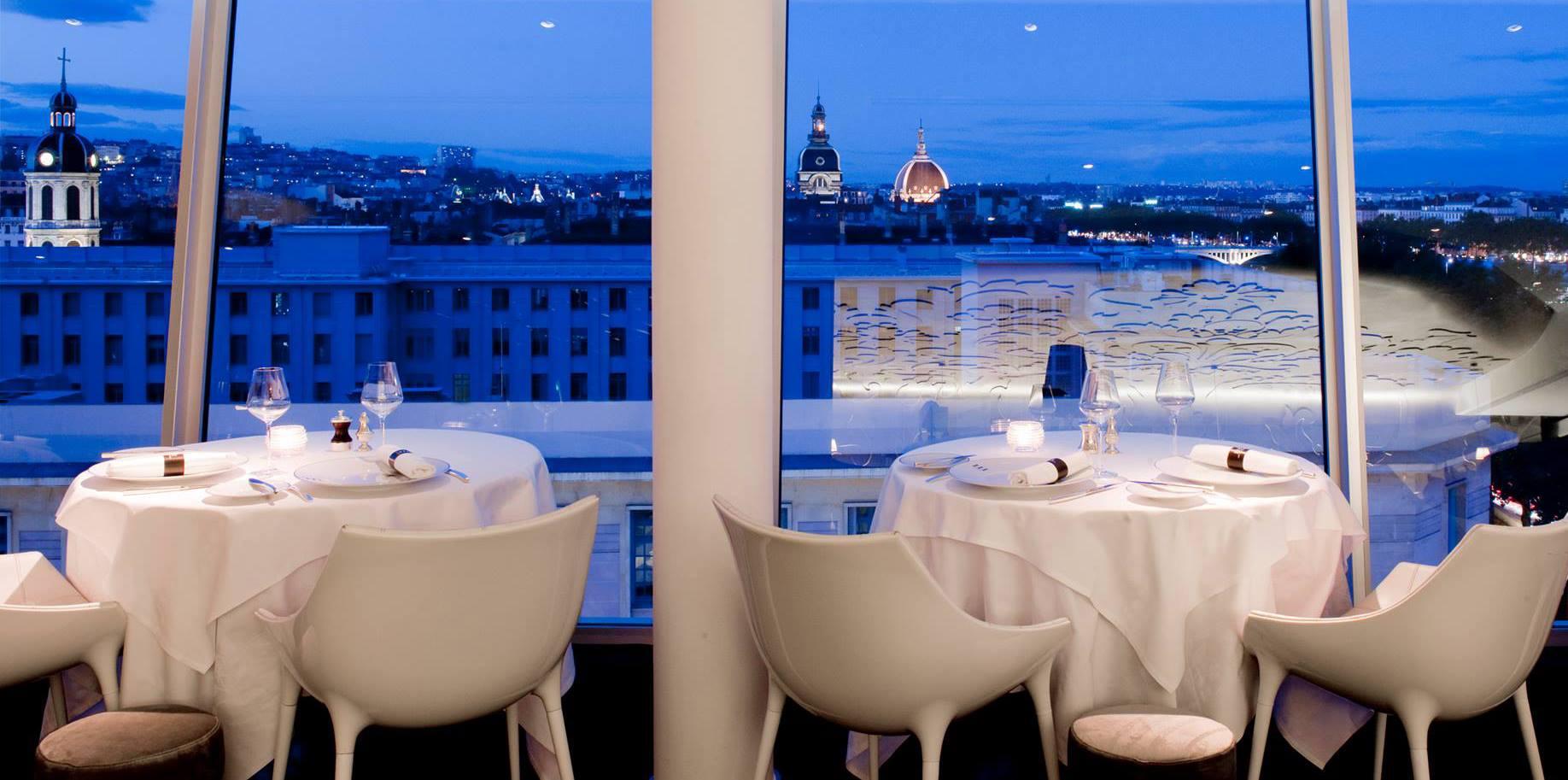 Repas Trois Dômes hôtel Sofitel Lyon Bellecour
