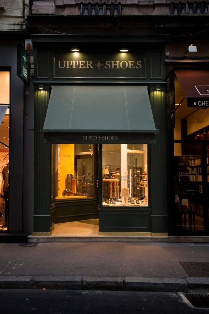 façade boutique Upper Shoes Lyon jean de Tournes