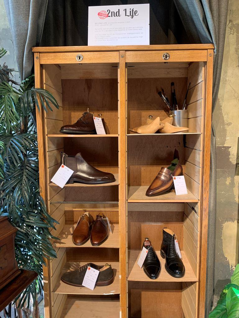 intérieur boutique Upper Shoes Pêcherie Lyon