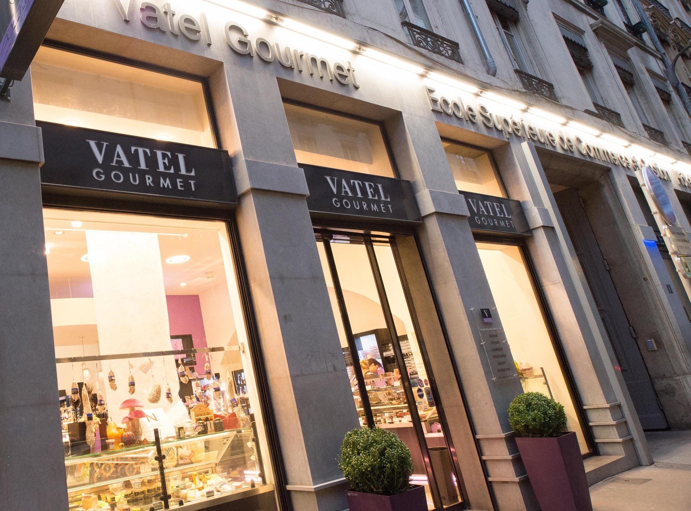 Vitrine boutique Vatel Gourmet Carnot Lyon
