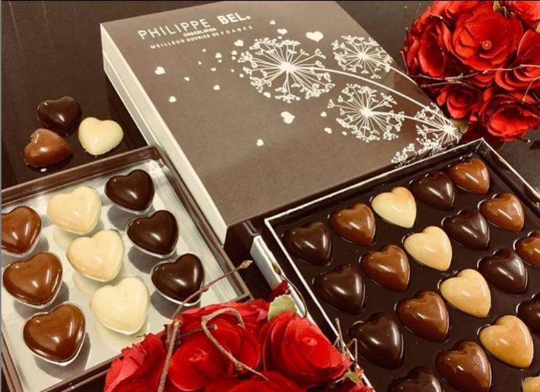 coffret St Valentin chocolats Philippe Bel MOF Lyon 2