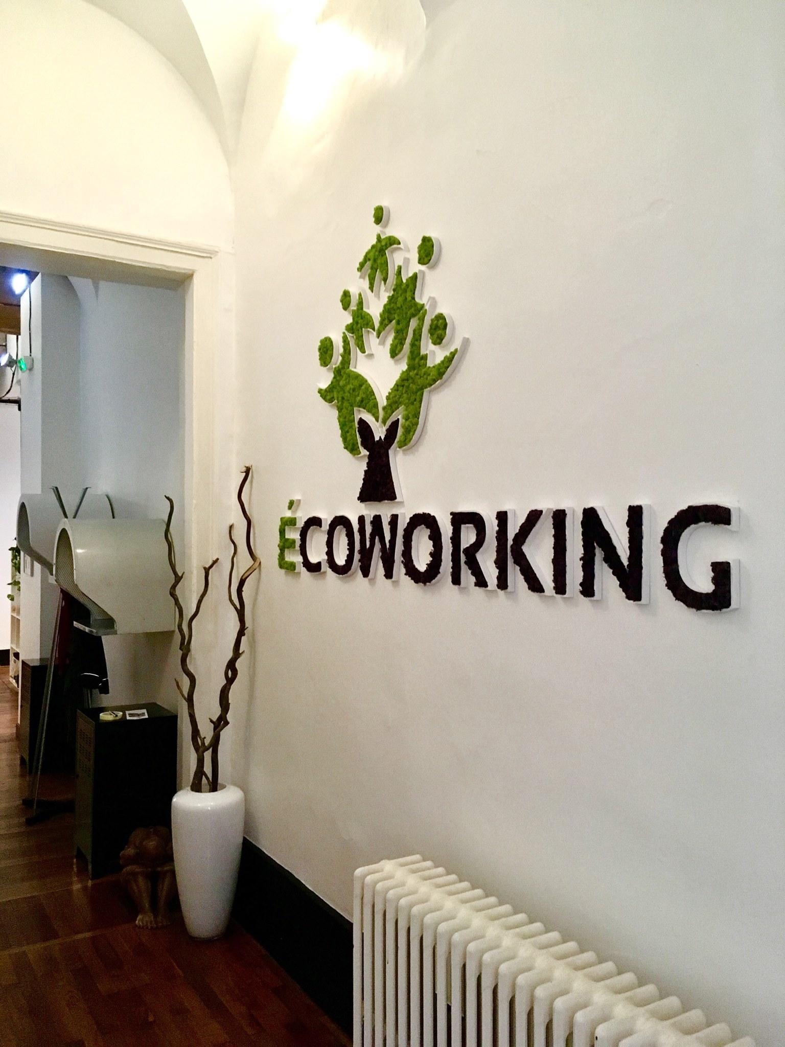 Logo végétal Ecoworking
