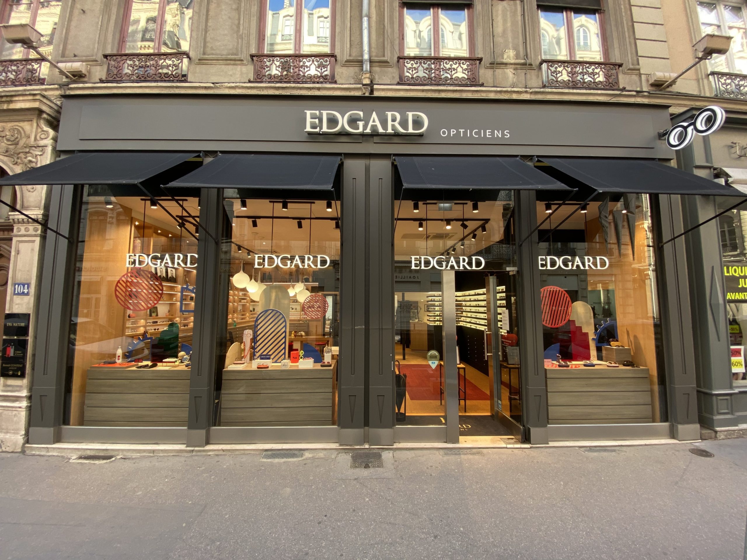 Vitrine Edgard Opticien Lyon