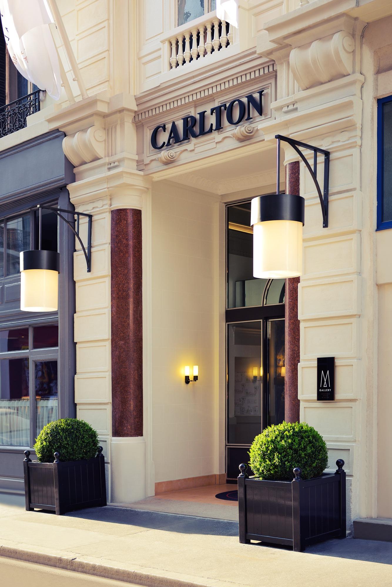 Entrée hôtel Carlton Lyon M Gallery