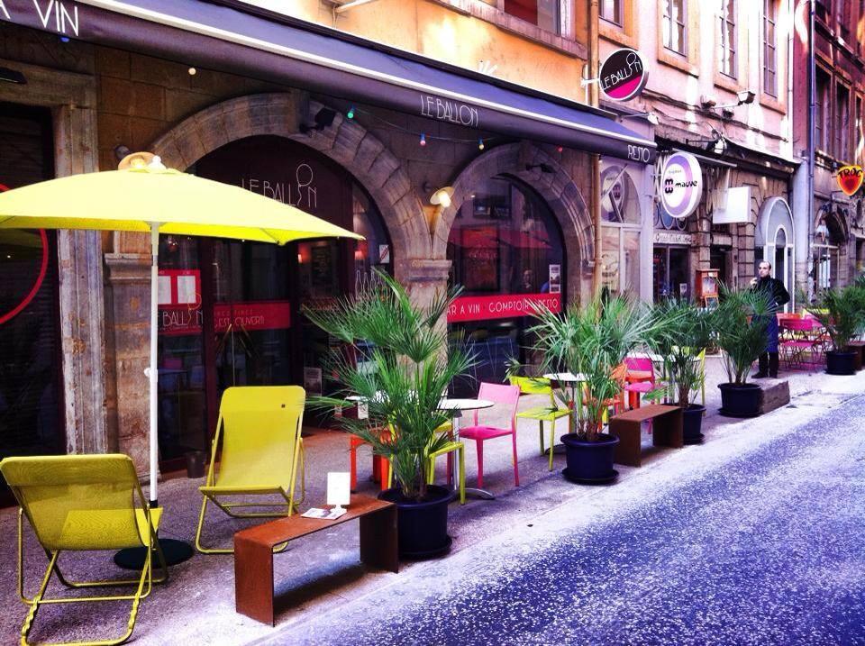 Terrasse restaurant Le Ballon Lyon 2