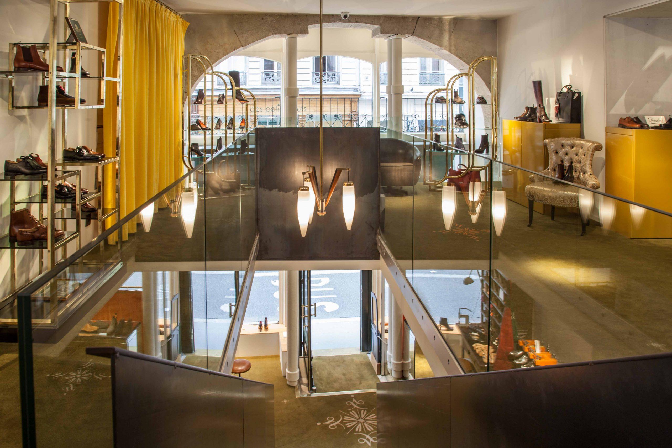 Intérieur boutique Upper Shoes Gasparin