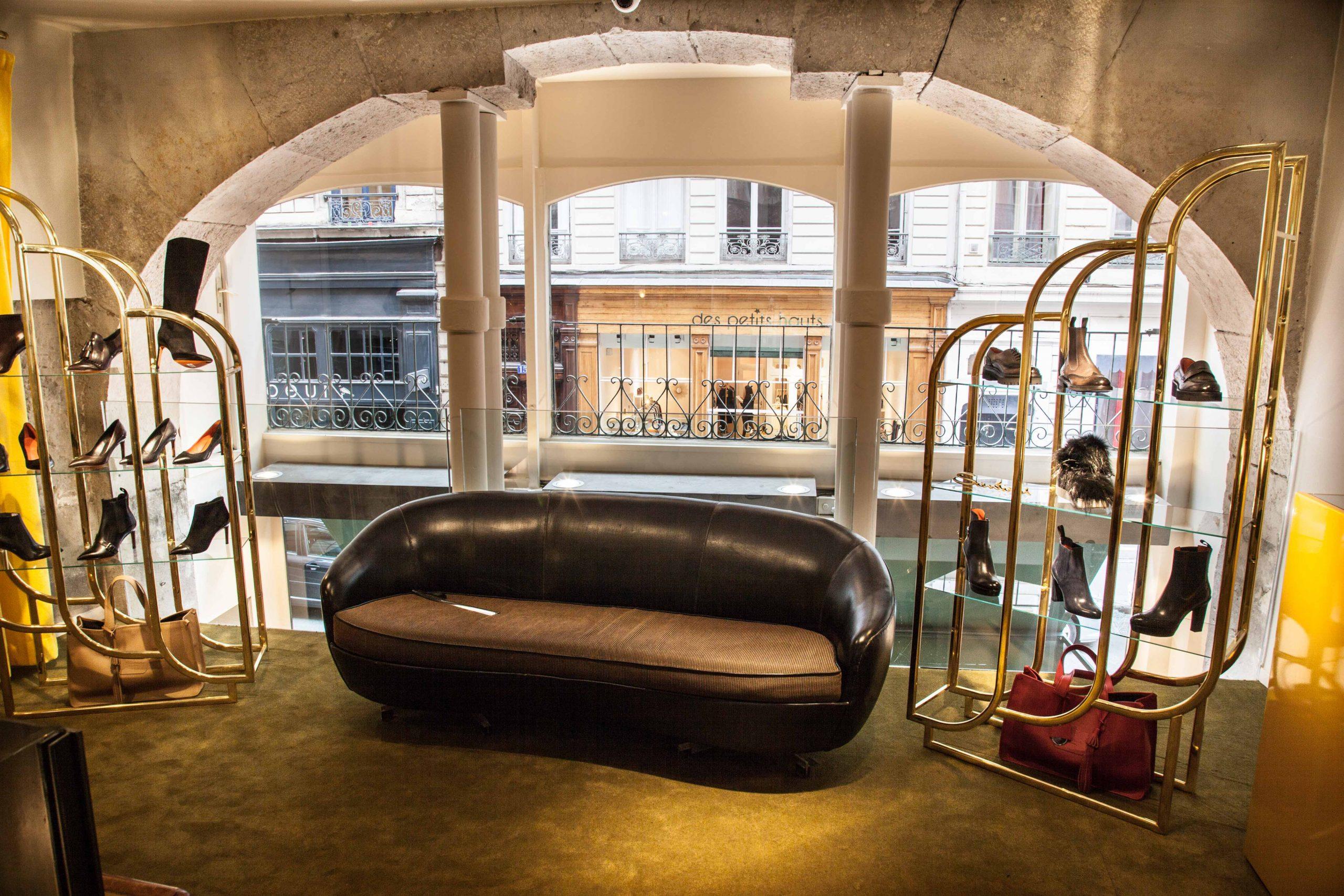 Intérieur boutique Upper Shoes Gasparin Lyon