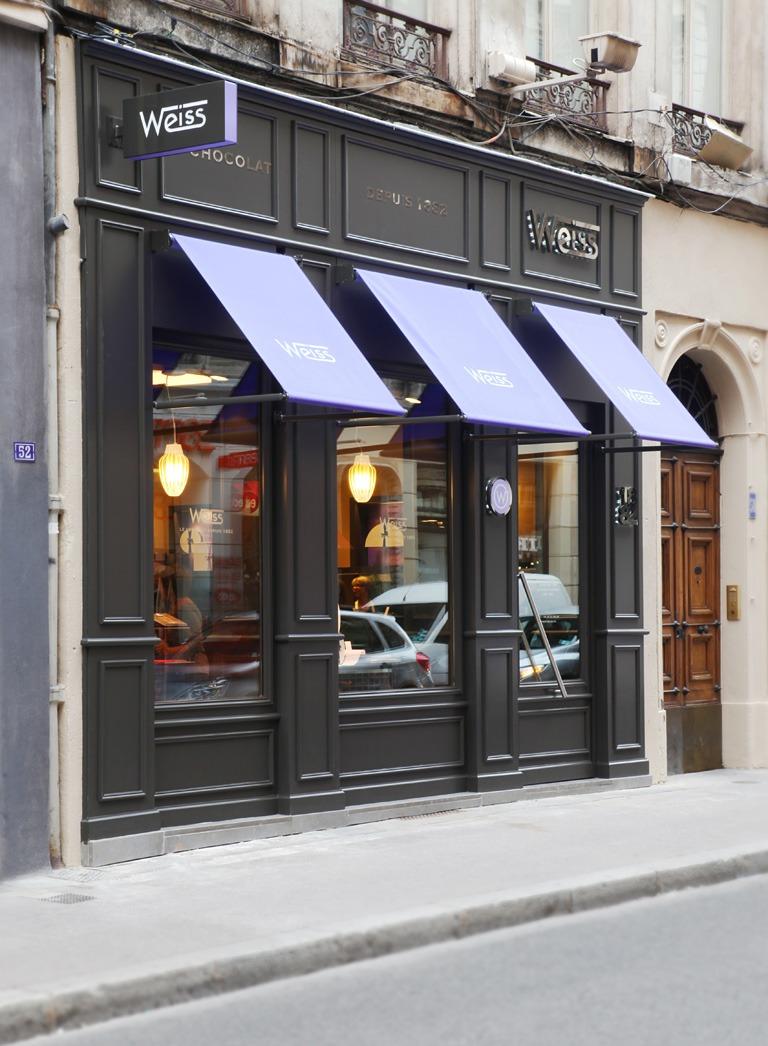 vitrine boutique chocolat Weiss Lyon