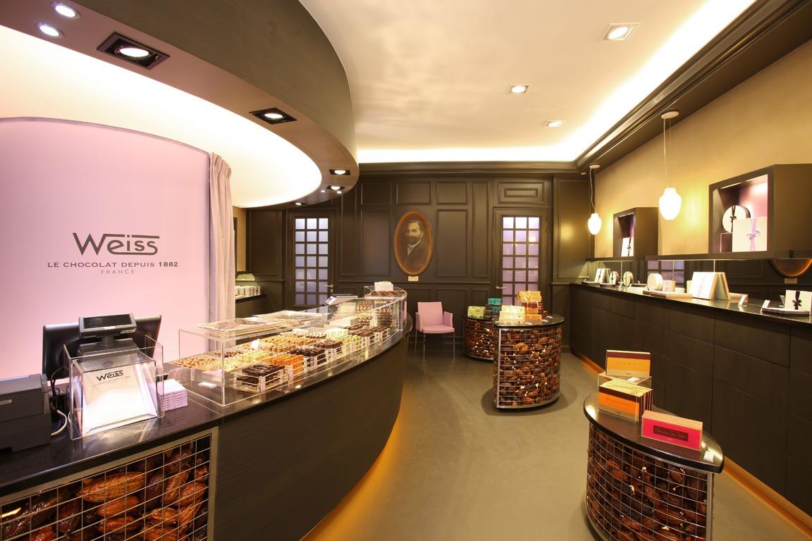 Chocolat Weiss intérieur boutique Lyon