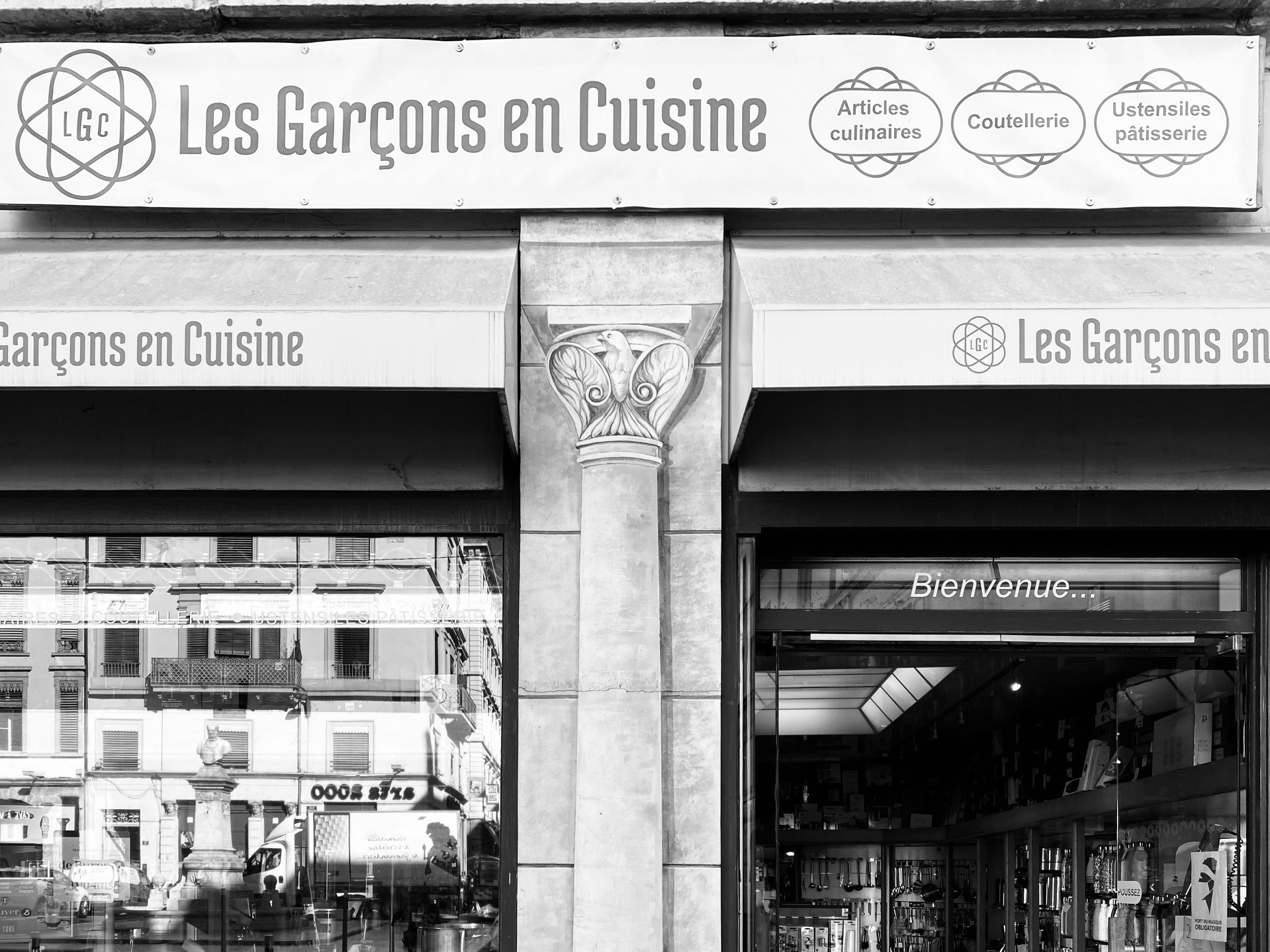 Les Garçons en cuisine Lyon vitrine