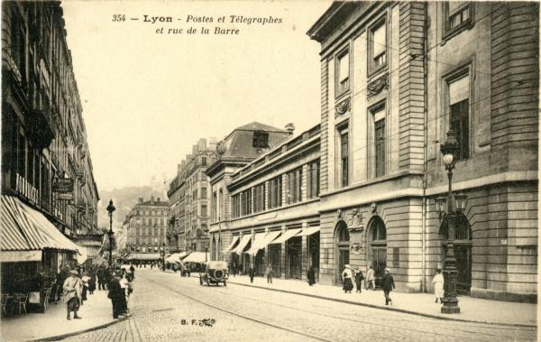 carte postale ancienne lyon presqu'ile