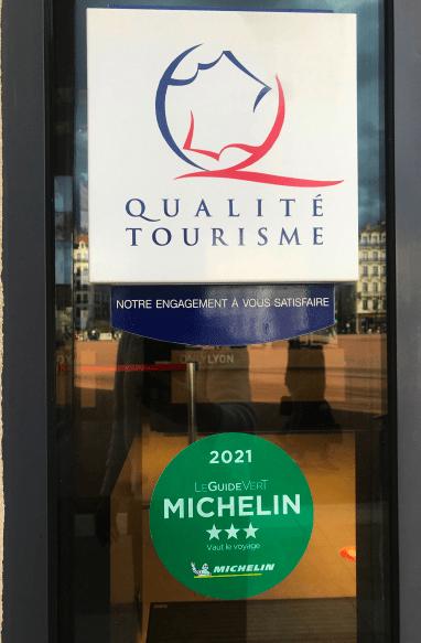 Office du Tourisme Lyon 2021 guide michelin vert