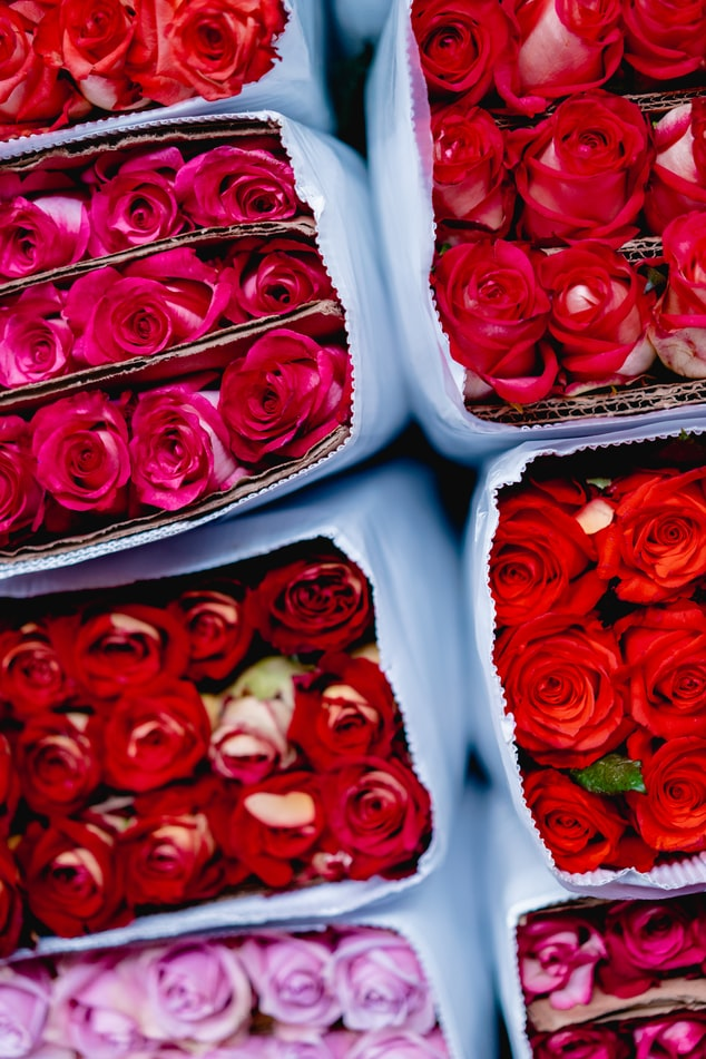 fleurs bouquet roses lyon